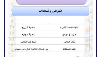 Photo of صف ثالث فصل ثاني علوم ملزمة الوحدة التاسعة الخواص والمعادلات