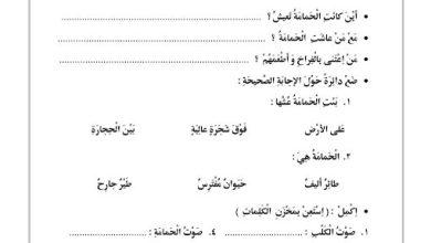 Photo of صف أول فصل ثاني اللغة العربية تدريبات الحمامه و الثعلب مع الاسئله
