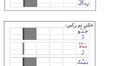 Photo of صف أول فصل ثاني لغة عربية ورق عمل منوع