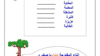 Photo of صف ثاني فصل ثاني لغة عربية ورق عمل متنوع