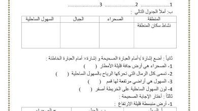 Photo of أوراق عمل دراسات اجتماعية صف ثالث فصل ثاني