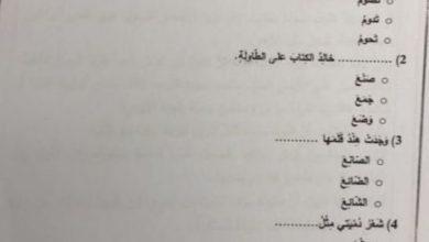 Photo of امتحان نهاية الفصل الثاني 2018 لغة عربية صف ثاني