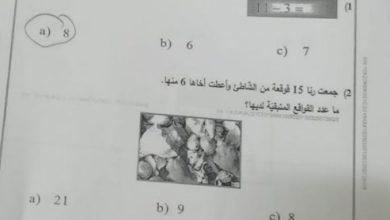 Photo of امتحان نهاية الفصل الثاني 2019 رياضيات صف أول