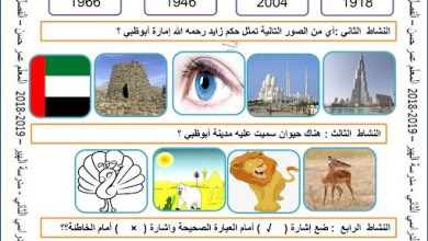 Photo of صف ثاني فصل ثاني أوراق عمل دراسات اجتماعية درس زايد حاكم أبوظبي