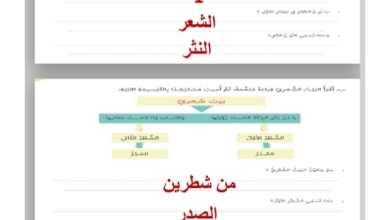 Photo of اجابة درس القافية الشعرية لمادة اللغة العربية الصف السابع