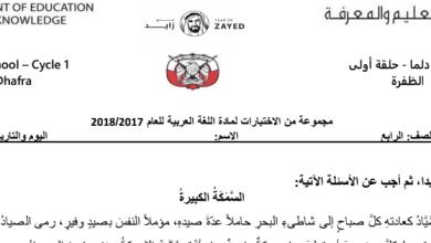 Photo of اختبارات فهم المقروء لغة عربية صف رابع فصل ثالث