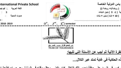 Photo of أوراق عمل الوحدة السادسة لغة عربية صف خامس فصل ثالث