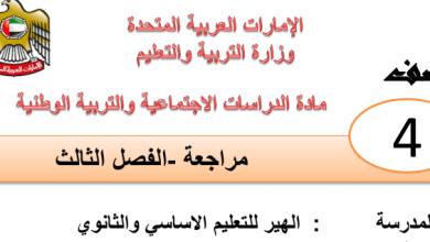 Photo of مراجعة شاملة الفصل الثالث دراسات اجتماعية صف رابع