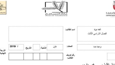Photo of ورقة عمل فهم المقروء لغة عربية صف أول فصل ثالث