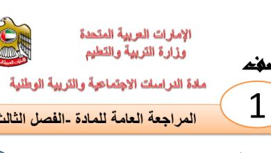 Photo of مراجعة عامة دراسات اجتماعية صف أول فصل ثالث
