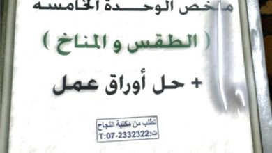 Photo of ملزمة الطقس والمناخ علوم صف رابع فصل ثالث