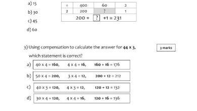 Photo of امتحان رياضيات منهج إنجليزي صف خامس فصل ثالث