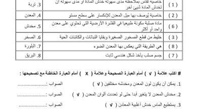 Photo of ملخص وحدة المعادن والصخور علوم صف خامس فصل ثالث