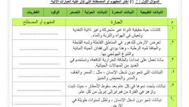 Photo of أوراق عمل النباتات الحولية في دولة الإمارات يتبعها الحل دراسات اجتماعية صف سادس فصل ثالث
