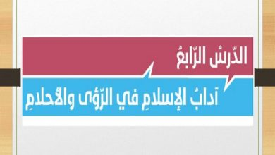 Photo of صف ثاني عشر فصل ثالث إسلامية إجابة درس آداب الإسلام في الرؤى والأحلام
