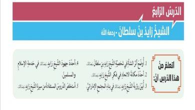 Photo of صف ثاني عشر فصل ثالث دين حلول درس الشيخ زايد بن سلطان