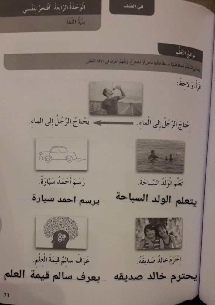 حل الوحدة الرابعة أفتخر بنفسي لغة عربية