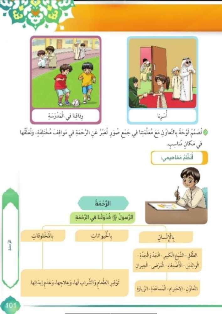 درس الرحمة مع الاجابات تربية إسلامية