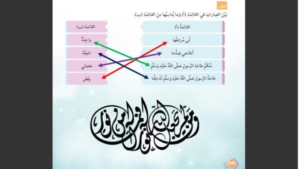 حل درس كل أمتي يدخلون الجنة تربية إسلامية