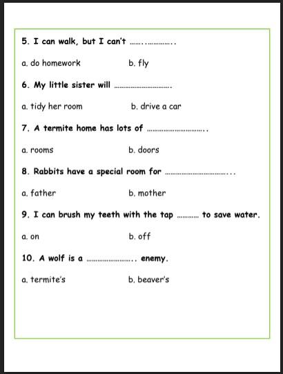 امتحان تجريبي الوحدة الثامنة لغة إنجليزية صف ثالث فصل ثالث