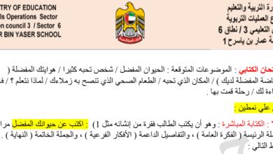 Photo of موضوعات الكتابة المقترحة لغة عربية صف ثاني فصل ثالث