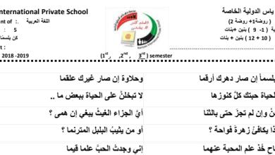 Photo of شرح وورق عمل درس كن بلسماً لغة عربية صف خامس فصل ثالث