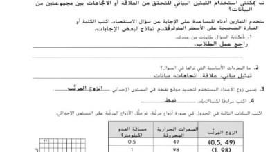 Photo of حل كتاب النشاط رياضيات الصف الثامن الفصل الثالث