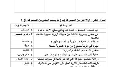 Photo of ورق عمل الصخور علوم يتبعها الحل صف خامس فصل ثالث