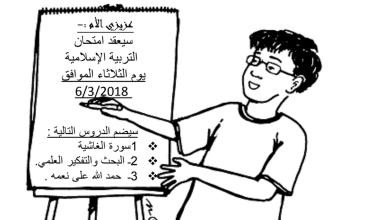 Photo of امتحان تقويم ثاني مع الحلول تربية إسلامية صف رابع فصل ثاني