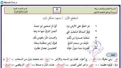 Photo of تحليل وشرح نثر الجو برد لغة عربية صف ثاني عشر فصل ثاني