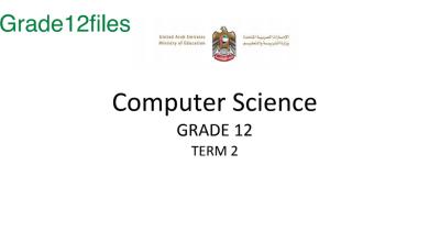 Photo of صف ثاني عشر فصل ثاني كمبيوتر  الوحدات 1-2-3