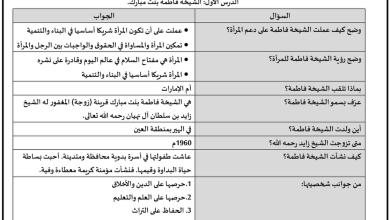 Photo of صف ثاني عشر فصل ثاني مذكرة 2 تربية إسلامية