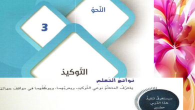 Photo of صف تاسع فصل ثاني لغة عربية التوكيد