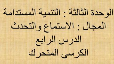 Photo of حل درس الكرسي المتحرك لغة عربية صف سابع فصل ثاني