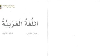 Photo of كتاب الطالب لغة عربية 2020 صف ثامن فصل ثاني