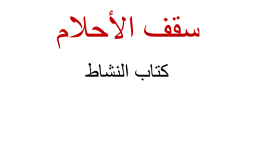 Photo of حل درس سقف الأحلام كتاب النشاط لغة عربية صف رابع فصل ثاني