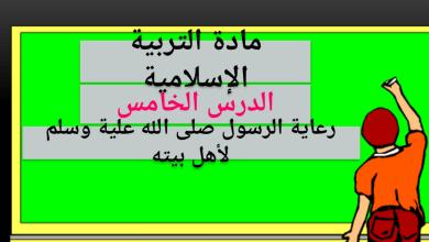 Photo of حل درس رعاية الرسول صلى الله عليه وسلم لأهل بيته تربية إسلامية صف عاشرفصل ثاني