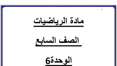 Photo of أوراق عمل ومراجعة الوحدة السادسة المعادلات والمتباينات رياضيات صف سابع فصل ثاني
