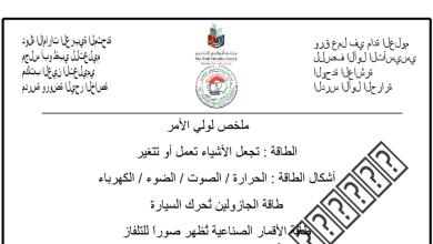 Photo of أوراق عمل الوحدة العاشرة علوم صف أول فصل ثالث