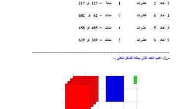 Photo of أوراق عمل رياضيات صف ثاني فصل ثاني