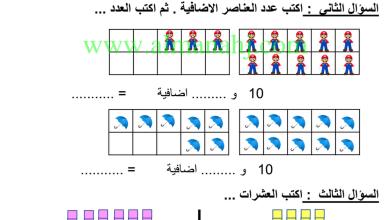 Photo of صف أول فصل ثاني رياضيات تقويم أول