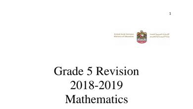 Photo of خامس رياضيات منهج مراجعة شاملة