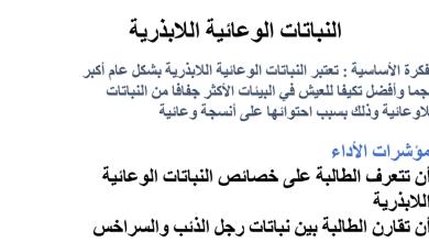 Photo of عاشر أحياء تلخيص النباتات الوعائية  اللابذرية
