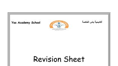 Photo of أوراق عمل ومراجعة الوحدة الأولى لغة إنجليزية صف ثالث فصل أول