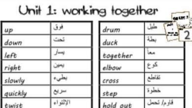 Photo of مفردات الوحدات 1-2-3 لغة إنجليزية صف رابع فصل أول