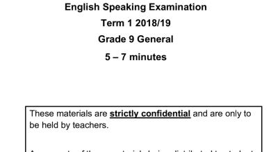 Photo of تاسع لغة إنجليزية نموذج امتحان تحدث