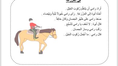 Photo of ورقة عمل فهم المقروء (في المزرعة) لغة عربية صف أول فصل أول