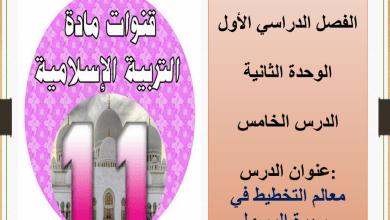 Photo of حل درس معالم التخطيط في سيرة الرسول تربية إسلامية صف حادي عشر متقدم فصل أول