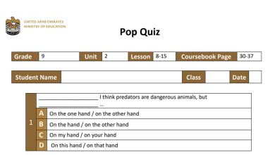 Photo of بوب كويز الوحدة الثانية الدروس من 8-15 لغة إنجليزية فصل أول صف تاسع
