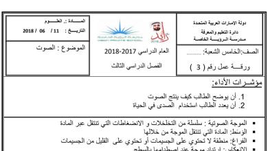 Photo of مراجعة شاملة الفصل الثالث بدون حل علوم صف خامس